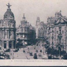 Postales: POSTAL MADRID - AVENIDA DEL CONDE DE PEÑALVER - GRAN VIA - CIRCULADA SELLO ALFONSO XIII. Lote 194557241