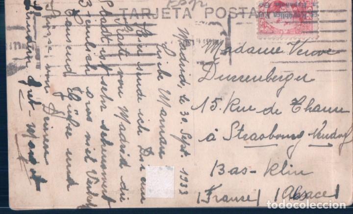 Postales: POSTAL MADRID - AVENIDA DEL CONDE DE PEÑALVER - GRAN VIA - CIRCULADA SELLO ALFONSO XIII - Foto 2 - 194557241