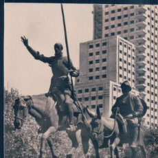 Postales: POSTAL MADRID - MONUMENTO A CERVANTES - H A E - DON QUIJOTE Y SANCHO PANZA. Lote 194557788