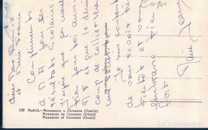 Postales: POSTAL MADRID - MONUMENTO A CERVANTES - H A E - DON QUIJOTE Y SANCHO PANZA - Foto 2 - 194557788