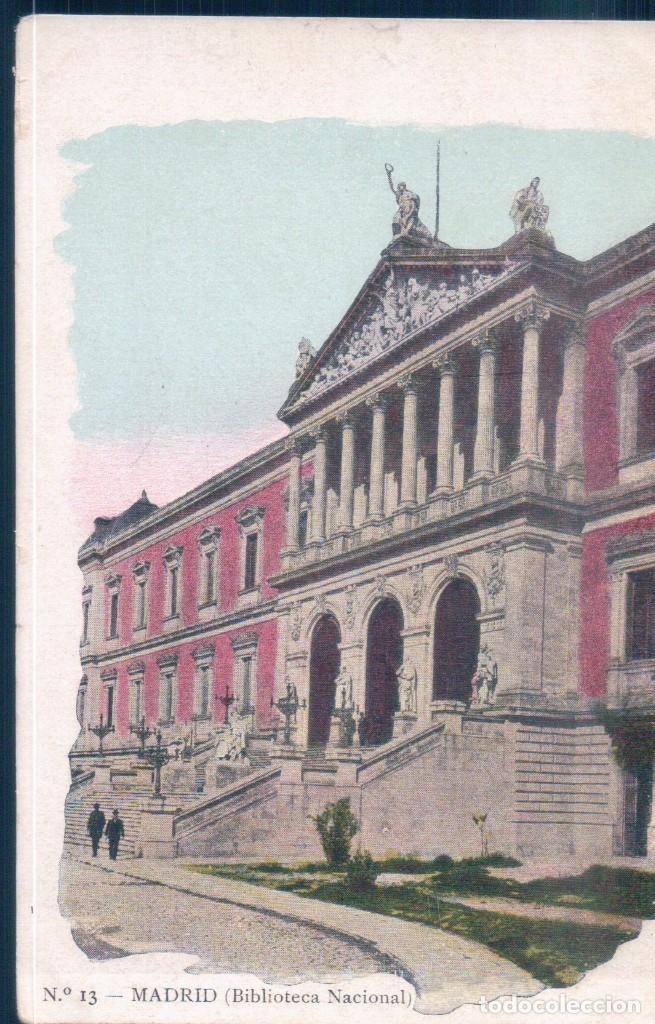 POSTAL MADRID - BIBLIOTECA NACIONAL - JOSE BLASS Y CIA - SIN DIVIDIR (Postales - España - Comunidad de Madrid Antigua (hasta 1939))