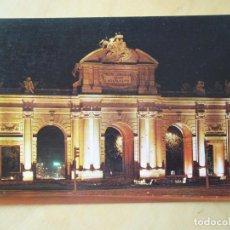 Postales: MADRID - PUERTA DE ALCALÁ. VISTA NOCTURNA. Lote 194584296