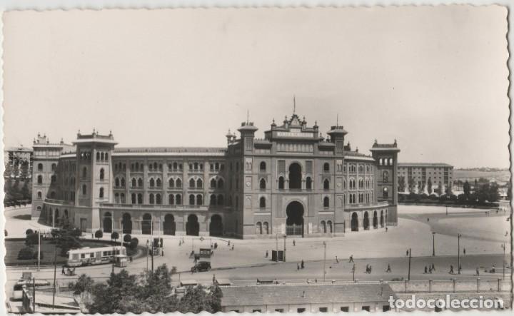LOTE C-POSTAL MADRID PLAZA TOROS TRANVIAS (Postales - España - Comunidad de Madrid Antigua (hasta 1939))