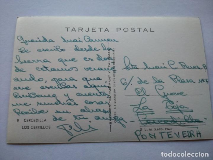 Postales: POSTAL -- CERCEDILLA - LOS CERRILLOS -- ESCRITA -- - Foto 2 - 194778127