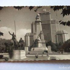 Postales: POSTAL -- MADRID - PLAZA DE ESPAÑA Y MONUMENTO A CERVANTES -- ESCRITA --. Lote 194863086