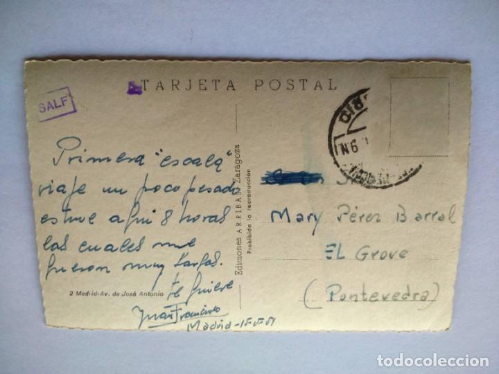 Postales: POSTAL -- MADRID - AVENIDA DE JOSE ANTONIO -- CIRCULADA -- - Foto 2 - 194863195