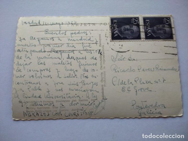 Postales: POSTAL -- MADRID - PARQUE ZOOLOGICO DEL RETIRO. JARDINES -- CIRCULADA -- - Foto 2 - 194863340