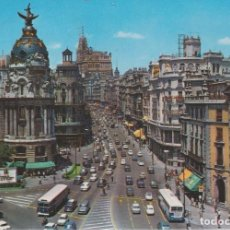 Postales: MADRID. GRAN VIA ... 1 AGUJERO DE CHINCHETA. Lote 194892450