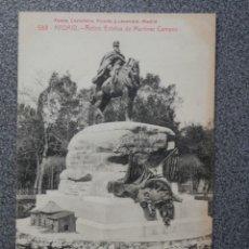 Postales: MADRID ESTATUA MARTINEZ CAMPOS FOTOTIPIA CASTAÑEIRA POSTAL ANTIGUA. Lote 194915567
