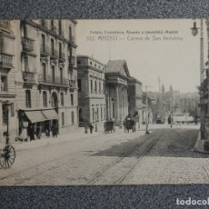 Postales: MADRID CARRERA SAN JERÓNIMO FOTOTIPIA CASTAÑEIRA POSTAL ANTIGUA. Lote 194915692