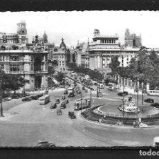 Postales: POSTAL,MADRID,AÑOS 50,PLAZA DE CIBELES,BLANCO Y NEGRO,CIRCULADA. Lote 195006055