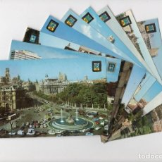 Postales: MADRID CIUDAD. LOTE DE 9 POSTALES -DOMINGUEZ-. Lote 195206967