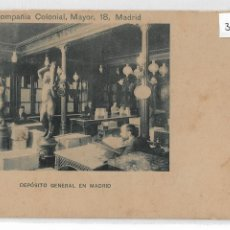 Postales: MADRID - COMPANÍA COLONIAL - CHOCOLATES - DEPÓSITO GENERAL - P30047. Lote 195219008