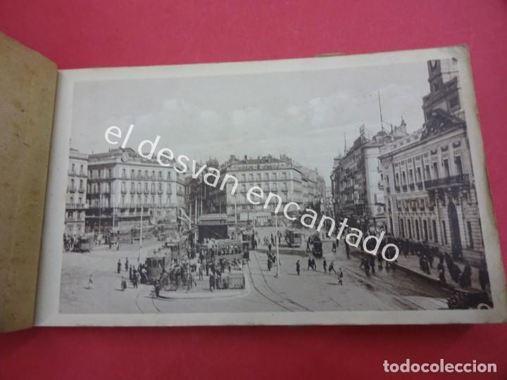 Postales: MADRID. Bloc postales con mapa desplegable. LA RUTA DEL TURISTA - Foto 2 - 195277812
