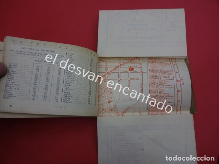Postales: MADRID. Bloc postales con mapa desplegable. LA RUTA DEL TURISTA - Foto 3 - 195277812