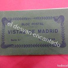 Postales: MADRID. BLOC POSTAL. SERIE 3ª. 20 TARJETAS (UNA DOBLE). Lote 195278363