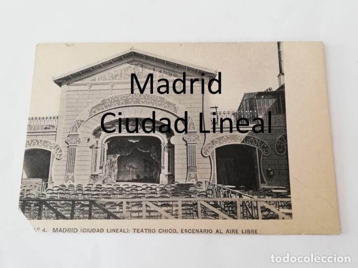 POSTAL DE MADRID, CIUDAD LINEAL, PARQUE DE DIVERSIONES. TEATRO CHICO, ESCENARIO AL AIRE LIBRE, N. 4, (Postales - España - Comunidad de Madrid Antigua (hasta 1939))