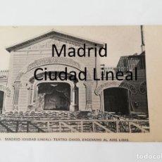 Postales: POSTAL DE MADRID, CIUDAD LINEAL, PARQUE DE DIVERSIONES. TEATRO CHICO, ESCENARIO AL AIRE LIBRE, N. 4,. Lote 195291641