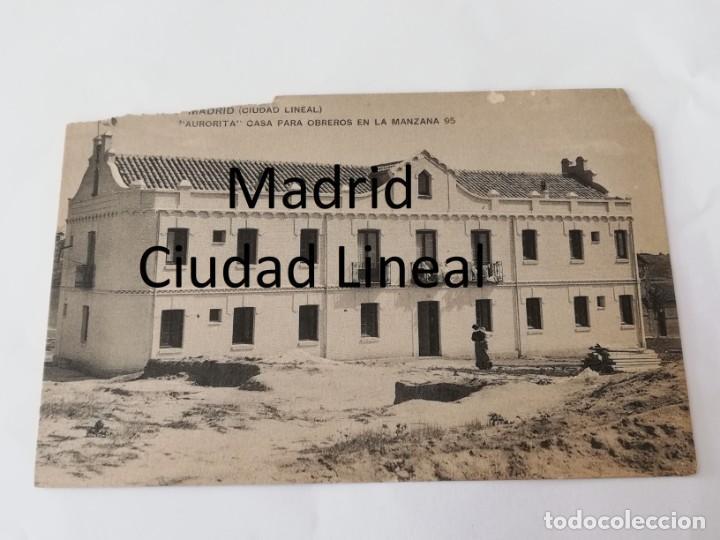 POSTAL DE MADRID. CIUDAD LINEAL. AURORITA. CASA PARA OBREROS EN LA MANZANA 95. ED. HAUSER Y MENET, N (Postales - España - Comunidad de Madrid Antigua (hasta 1939))