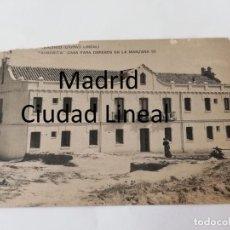 Postales: POSTAL DE MADRID. CIUDAD LINEAL. AURORITA. CASA PARA OBREROS EN LA MANZANA 95. ED. HAUSER Y MENET, N. Lote 195291847