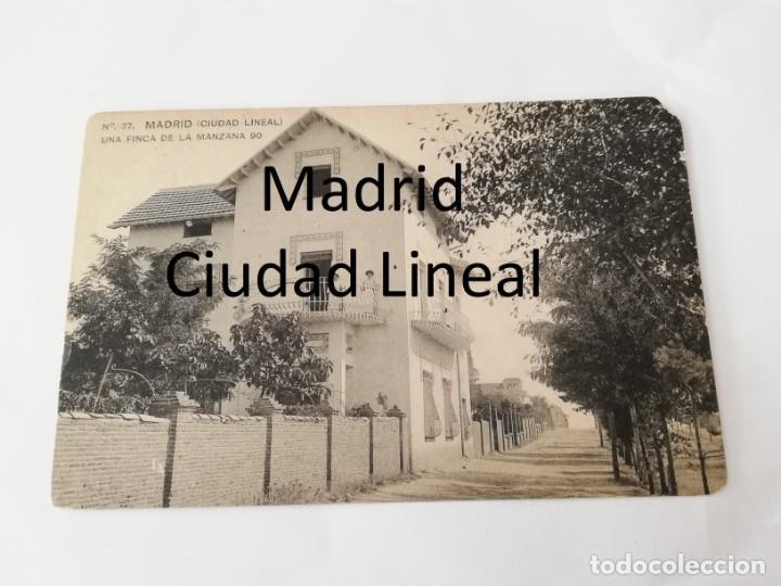 POSTAL DE MADRID. CIUDAD LINEAL. N. 77. UNA FINCA DE LA MANZANA 90. ED. HAUSER Y MENET. NO CIRCULADA (Postales - España - Comunidad de Madrid Antigua (hasta 1939))