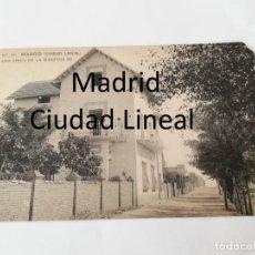Postales: POSTAL DE MADRID. CIUDAD LINEAL. N. 77. UNA FINCA DE LA MANZANA 90. ED. HAUSER Y MENET. NO CIRCULADA. Lote 195292107