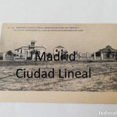 Postales: POSTAL DE MADRID. CIUDAD LINEAL. N. 52. MANZANA 90. CASA DE OBRERO Y TALLER DE CERRAJERIA AL LADO DE. Lote 195292417