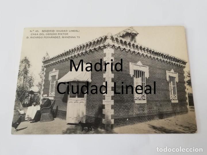 POSTAL DE MADRID. CIUDAD LINEAL. N. 45. CASA DEL OBRERO PINTOR D. RICARDO FERNANDEZ. MANZANA 73. ED. (Postales - España - Comunidad de Madrid Antigua (hasta 1939))