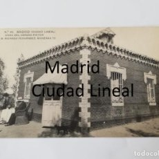 Postales: POSTAL DE MADRID. CIUDAD LINEAL. N. 45. CASA DEL OBRERO PINTOR D. RICARDO FERNANDEZ. MANZANA 73. ED.. Lote 195295246