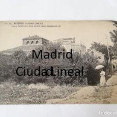 Postales: POSTAL DE MADRID. CIUDAD LINEAL. N. 82. FINCA CERCADA CON SETO VIVO. MANZANA 98. ED. HAUSER Y MENET.. Lote 195295517