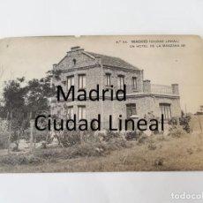 Postales: POSTAL DE MADRID. CIUDAD LINEAL. N. 64. UN HOTEL DE LA MANZANA 98. ED. HAUSER Y MENET. NO CIRCULADA.. Lote 195295747