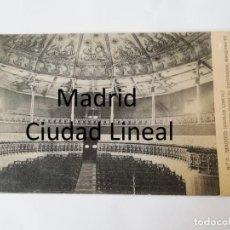 Postales: POSTAL DE MADRID. CIUDAD LINEAL. N. 2. INTERIOR DEL TEATRO, VISTO DESDE EL ESCENARIO, MANZANA 98. ED. Lote 195296018