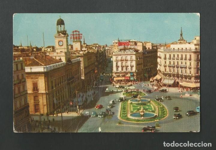 POSTAL CIRCULADA - MADRID 1 - PUERTA DEL SOL - EDITA PR (Postales - España - Madrid Moderna (desde 1940))