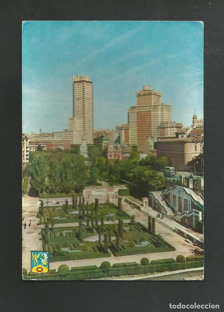 POSTAL CIRCULADA - MADRID 9 - JARDINES DE SABATINI - EDITA DOMINGUEZ (Postales - España - Madrid Moderna (desde 1940))