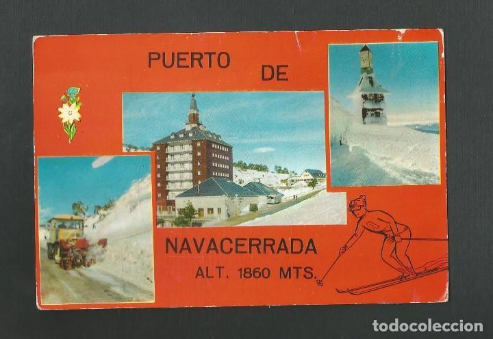 POSTAL CIRCULADA - PUERTO DE NAVACERRADA 9 - MADRID - EDITA CUSCO (Postales - España - Madrid Moderna (desde 1940))