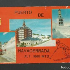 Postales: POSTAL CIRCULADA - PUERTO DE NAVACERRADA 9 - MADRID - EDITA CUSCO. Lote 195333885