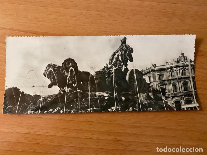 POSTAL PANORÁMICA 'FUENTE DE LA CIBELES - MADRID' - 1956 (Postales - España - Madrid Moderna (desde 1940))
