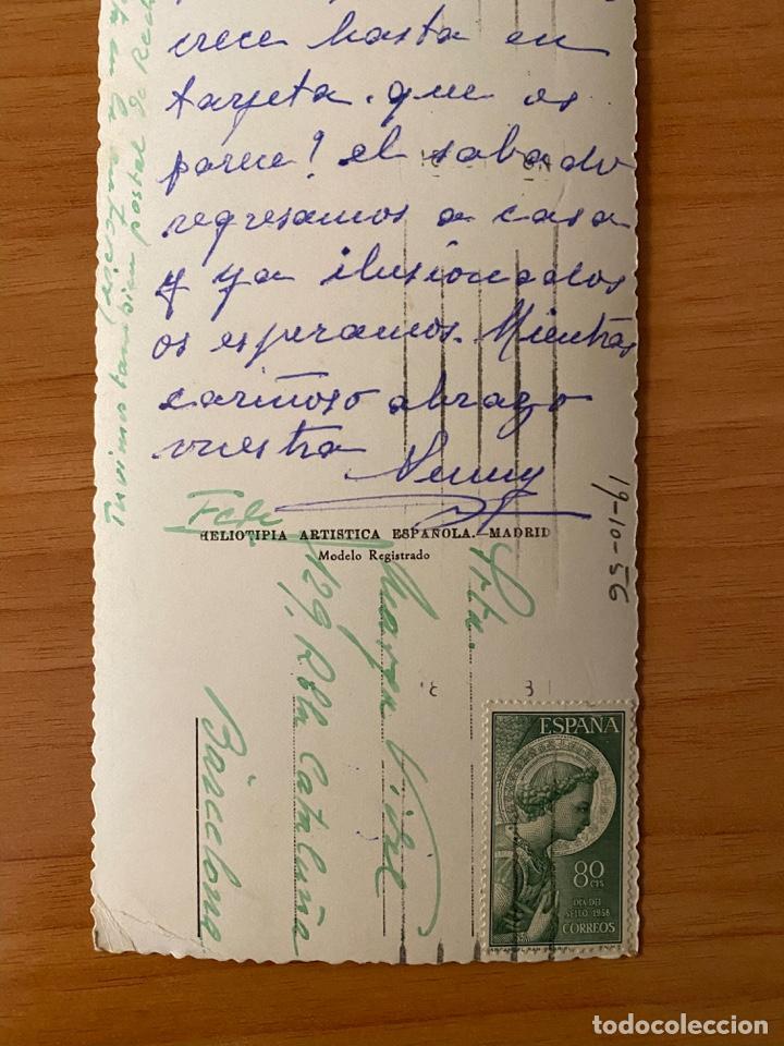 Postales: Postal panorámica Fuente de la Cibeles - Madrid - 1956 - Foto 4 - 195357883