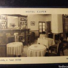 Postales: MADRID, PUBLICITARIA DEL HOTEL CLIPER. F. MESAS, BILBAO. Lote 195403697