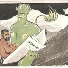 Postales: MADRID. HERALDO DE MADRID. TARJETA POSTAL DE OBISPOS Y ARZOBISPOS CONDENANDO AL HERALDO.. Lote 195730530