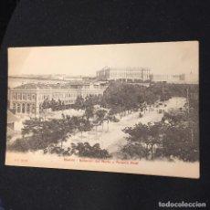 Postales: POSTAL MADRID ESTACION DEL NORTE PALACIO REAL ESPAÑA P.Z 10144 NO INSCRITA NO CIRCULADA. Lote 195766161