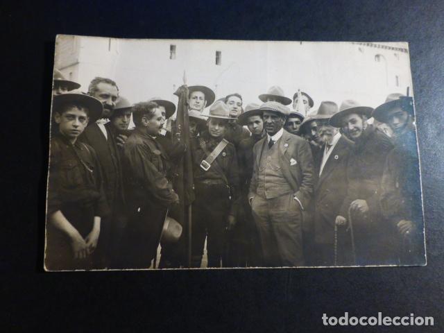 SAN LORENZO DE EL ESCORIAL MADRID EXCURSION DE LOS EXPLORADORES DE MADRID BOY SCOUT POSTAL FOT. 1913 (Postales - España - Comunidad de Madrid Antigua (hasta 1939))