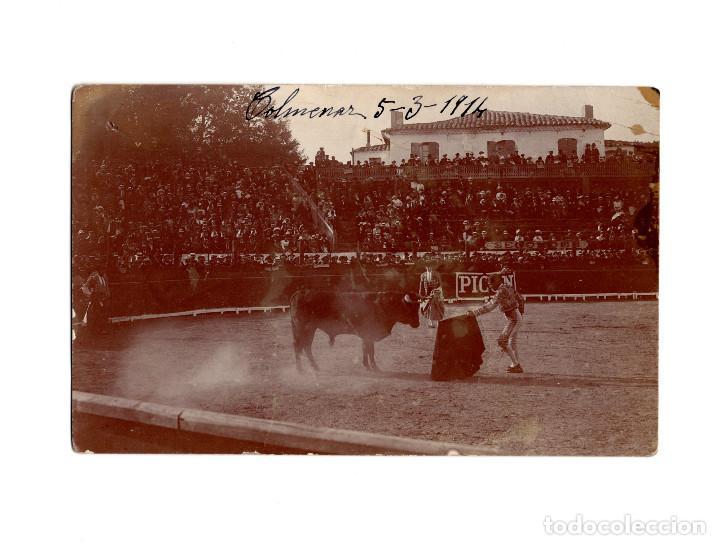 COLMENAR VIEJO.(MADRID).- CORRIDA DE TOROS 1914. POSTAL FOTOGRÁFICA. (Postales - España - Comunidad de Madrid Antigua (hasta 1939))