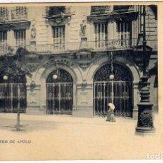 Postales: PRECIOSA POSTAL MADRID - TEATRO DE APOLO . Lote 196661867