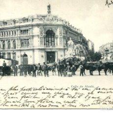 Postales: MADRID-CALLE ALCALÁ-CIBÉLES-CARRETAS CON TIRO DE BUEYES- 1900-RARA. Lote 196840921