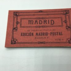 Postales: MADRID BLOC DE 20 TARJETAS POSTALES EDICIÓN MADRID - POSTAL ALCALA, 2 IV FOTOTIPIA HAUSER Y MENET. Lote 196867815