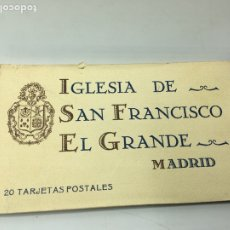 Postales: MADRID BLOC 20 TARJETAS POSTALES IGLESIA SAN FRANCISCO EL GRANDE HAUSER Y MENET. Lote 196878020