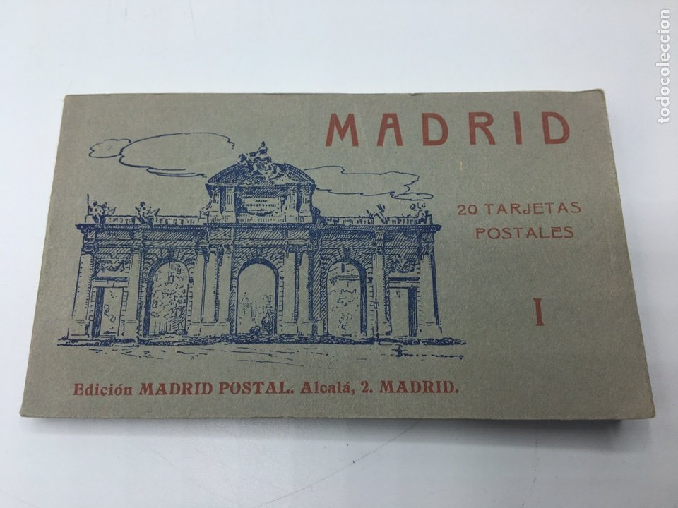 MADRID BLOC DE 20 TARJETAS POSTALES EDICIÓN MADRID - POSTAL ALCALA, 2 I FOTOTIPIA HAUSER Y MENET (Postales - España - Comunidad de Madrid Antigua (hasta 1939))