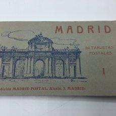 Postales: MADRID BLOC DE 20 TARJETAS POSTALES EDICIÓN MADRID - POSTAL ALCALA, 2 I FOTOTIPIA HAUSER Y MENET. Lote 196885960