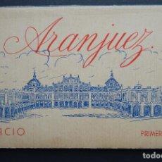 Postales: CARPETA CON 12 POSTALES DEL PALACIO DE ARANJUEZ , PRIMERA SERIE , VER FOTOS. Lote 197094792